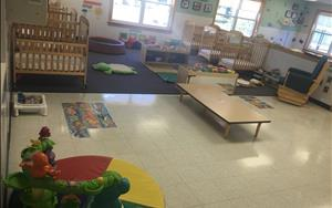 Our babies feel safe and at home in this classroom!